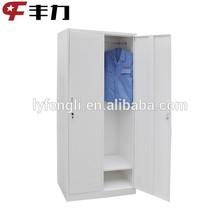 K/D design 2 door clothes storage metal bedroom cupboard style