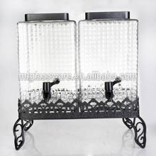 10L Twins New design Glass Water Storage Jar
