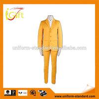 2014 wholesale fashion business yellow color suit