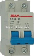 DZ47-63-2P C45 415V 40A mcb miniature circuit breaker