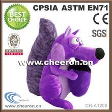 Purple beautifull style plush toy squirrels