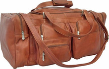 Factory Custom Genuine Leather Duffel Luggage/Promotional Leather Duffel