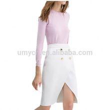 2014 Basic back zipper women cashmere top