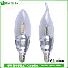 80CRI dimmable 4W E14 LED candle light E27 E12