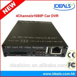 1080D Full HD DVR 4ch 4channel, 4ch channel 1080P Full HD in Car DVR with WiFi GPS full HD