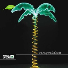 LED Lighted Artificial Coconut tree plastic palm tree leaf for outdoor GNW xtr007-G02