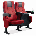 XJ-6802 red and durable recliner cinema chair with plastic and movable armrest and cup holder