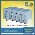 2014 hote venta 16 in1 catv modulador analógico/digital tv convertidor de analógico