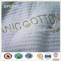 a prueba de agua de algodón orgánico tela de punto de tejido para colchón