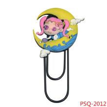 PSQ-2012 hot new design pvc funny creative gift lock type pvc bookmark