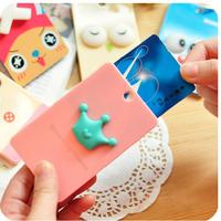 2014 custom logo printed cartoon card cover/bank card bag/credit card bag cover