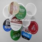 K-cup aluminum foil lids heat seal