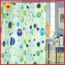 Circle Design Bath Peva Plastic Arabic Curtains For Home