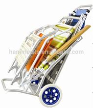 Aluminum Beach Cart, Holding Beach Trolly Cart