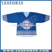 New style custom transfer printing ice hockey tops