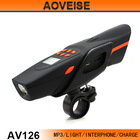 Bicycle interphone with mp3 light mobile charge bluetooth AV126 [AOVEISE]