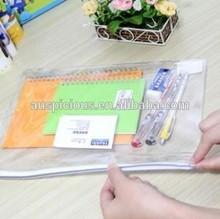 2014 Promotion High Quality File/Document Zipplock Pvc Bag