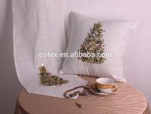 handmade beaded christmas decorative cushion cover