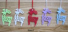 Laser cut deer christmas tree decorations