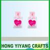 100ml cute red heart pattern love glass bottle cosmetic