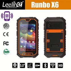 hot new products for 2014 Runbo x6 3g mobile gsm walkie talkie phone