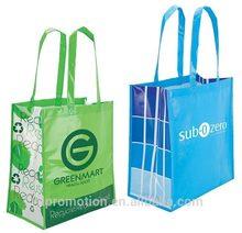 Eco Friendly Shopping Bag laminated non-woven polypropylene long handled stylish shopping tote bags
