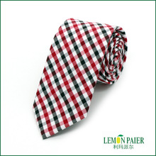 Black and Red Men's Custom Cotton Tie