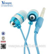 crystal blue 3.5mm wired in-ear earphones