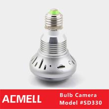 720P 5 Mega Pixel Hidden Camera Light Bulb with 90 degree
