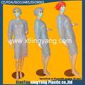 Bonne qualité de soins de santé fournitures stériles jetables blouse chirurgicale, renforce sms isolement robe