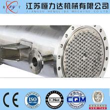 Sanitary stainless steel shell tube heat exchanger