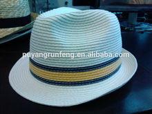 panama fedora chapeau paper summer mens straw trilby hats