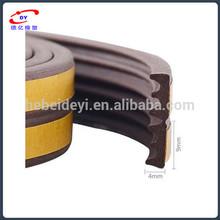 gray d type epdm rubber extruded wooden door seal