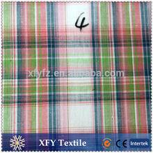 cheap price checks design yarn dyed cotton fabric