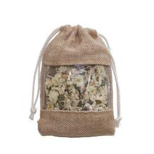 jute carry bags/jute basket bag/jute burlap drawstring bags