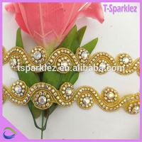 flatback rhinestones stores pearl gold bridal trim for wedding dresses