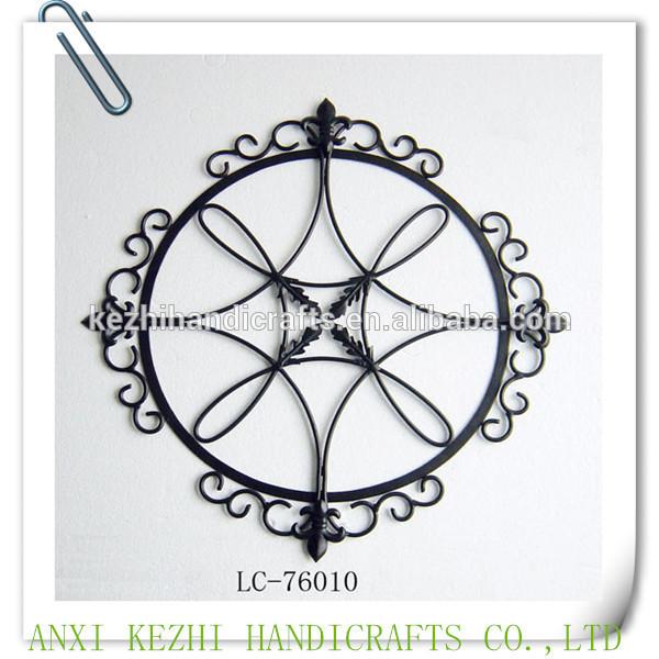 Antique ronde en fer forg m tal d coration murale autres for Decoration murale ronde