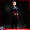 Taekwondo equipment ribbed fabric black taekwondo uniform