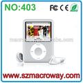 2013 nueva promoción MP4 reproductor digital manual de 4 GB