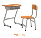 Commercial cheap price wood modern school desk and chair YA-T07