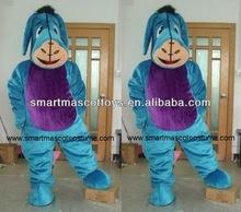 blue donkey eeyore mascot costume for adults