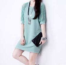 D13613A 2014 OFFICE LADY SUMMER PURPLE COLOR DRESS