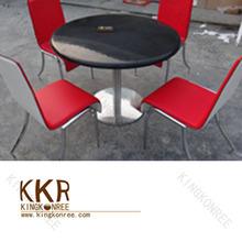 Black acrylic coffee and tea table in furniture
