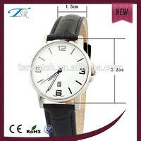 2015 waterproof fashionable women analog wrist watch leather strap date display