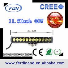hot sale Cree LED light bar 60W Cree for Jeep Polaris Offroad Tractor Marine Truck 12v 24v 36w 60w 72w 120w 240w 288w 300w