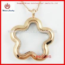 Fashion design wholesale charm locket magnetic locket jewelry set