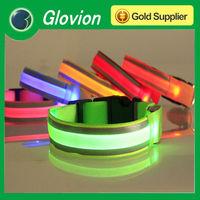 Most popular europe pet product lighted LED dog collar safety Flashing light dog collar