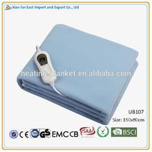 Single Bed Size 3 temperature settings blue color 60w 220v Electric Polar Fleece Blanket