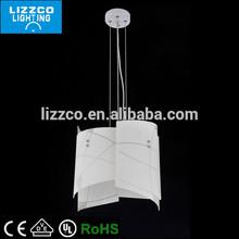 Simple White Modern Glass Pendant Light