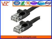 1m and 3m RJ11 6P4C 28*4C black flat cable